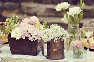 wedding flowers and wedding video