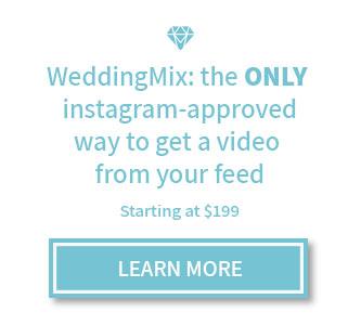 Instagram wedding video